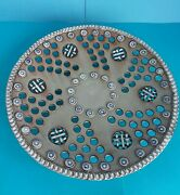 Fine Czech-bohemian 1950s 1960 Signed Reticulated Footed Ceramic Art Bowel Plate