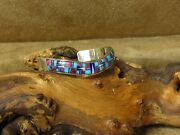 Sterling Silver Sweater Bracelet With Inlay Turquoise And More