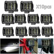 Led Work Light For Tractor Boat Offroad Car Driving Fog 10pcs 6d Lamp 6000k Tool