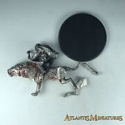 Metal Orc Warg Rider Missing Foot Groove - Warhammer / Lord Of The Rings X1663