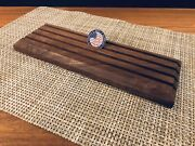 Challenge Coin Display Solid Walnut Wood 4-row Military Coin Holder Rack Stand