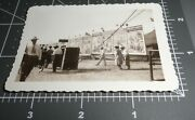 1930's Circus Banner Sideshow Sign Carnival Midway Vintage Snapshot Photo