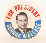 Vintage George Wallace For President Political Campaign Pinback Button