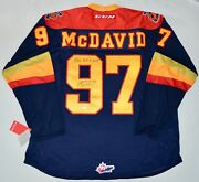 Auto Le97 Uda Connor Mcdavid Erie Otters Roy Inscripted Ccm Jersey