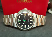 Used Vintage Omega Dynamic Black Dial Date Automatic Manand039s Watch