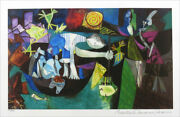 Pablo Picasso Night Fishing At Antibes Limited Edition Signed Giclee 13 X 20