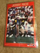 Vintage 1988 Starline Nfl Football Jerry Rice San Francisco 49ers Poster 22x35