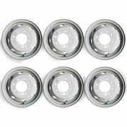 Set Of 6 🔥16 Dually Steel Wheels For 1992-2007 Ford E350 E450 Oem Quality 3210