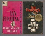 1956/66 Diamonds Are Forever 27th And Man W/ Golden Gun 1st Siget Paperback Lot
