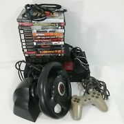 Ps2 Fat Bundle Controller Cords 11 Game 2 Memory Card Steering Wheel Switch Box