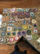 Vintage 80s-90s 80+ Boy And Cub Scout Patches, Pins, Bolo Holders, Merit Badges
