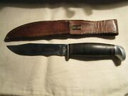 Vintage Case 9 Hunting Knife With Case Xx Leather Sheath