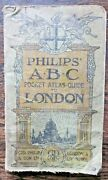 1923 Philips London Abc Street Guide Vintage Maps Plan Birds-eye View Pictorial