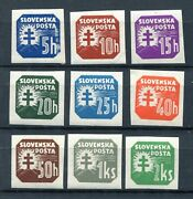 Slovakia Ww2 German Puppet State 1940-1941 With Watermark P20-p30 Superb Mnh