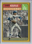 2019 Topps Brooklyn Collection Sandy Koufax Gold Los Angeles Dodgers 14/50
