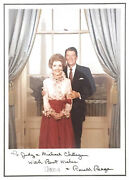 Autographed Framed Photo President Ronald Reagan And First Lady Nancy Reagan -good