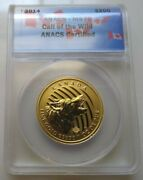 2014 Canada 200 1 Oz. Gold Howling Wolf Anacs Ms70 - Rcm - .99999 Fine Gold