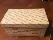 Vintage F.w.woolworth Co. Air Mail Envelopes Box, 7 X 4 X 3.5, Box Only
