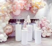 Metal Frame Party Decoration Flowers Stand Iron Cylindrical Dessert Table Stands