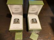 New In Box Christofle Sterling Silver Napkin Rings Lot Of 2 Made In France 420