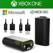 Official Microsoft Xbox One Play And Charge Kit -rechargeable Battery+usb Cable
