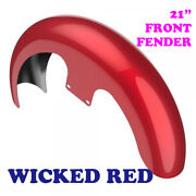 Wicked Red 21 Reveal Wrapper Hugger Front Fender For 86-20 Harley Flh Touring