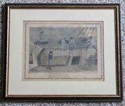 George Cruikshank - Mr B. On The Middle Watch - England Victorian Etching Color