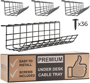 Scandinavian Hub Under Desk Cable Management Tray - Cable Organizer For Wire For