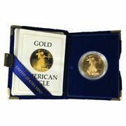 1986 American Eagle 1oz Gold Bullion Coin 50 With Coa And Us Mint Box