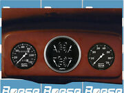 35 36 Chevy Master / 35 36 37 38 39 Truck Adapter Panels W/ Auto Meter Gauges
