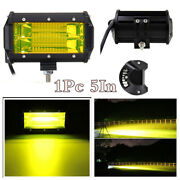 Cree Led Work Light Bar 5in 72w Flood Spot Beam Offroad Marine Boat Fog Lamp