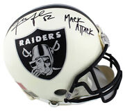 Khalil Mack Signed Oakland Raiders Authentic White Gloss Nfl Helmet With Insc