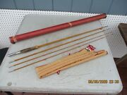 South Bend 57-9 4 Piece Bamboo Fly Fishing Rod With Original Sock And Case