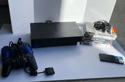 Sony Playstation 2 Fat With 5 Games And 3 Memory Cards Face Plate Missing