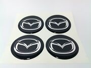New 4pcs Silicone Stickers For Wheel Centre Cap Hubs For Mazda - 60mm