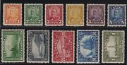 Canada Sc 149-59 1928-9 Scroll Issue Complete Set Bluenose Mint Vf Nh