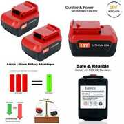 Lasica 2 Pack Pc18b 4000mah 18v Lithium Battery - Compatible With Porter Cable 1