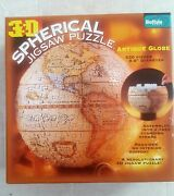 3d Spherical Jigsaw Puzzle Antique Globe 530 Piece 2006 Buffalo Games Sealed New