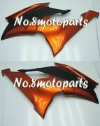 Fit For 2008-2016 Yamaha Yzf R6 Orange Black Injection Left Right Side Fairings