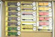 N Scale Cars Sold Individually, Micro Trains Atsf Sf Wm Up Acy Cbandq Stock Gon Bo