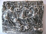 83-masterpiece Of Henryk Winograd. Silver Plaque Of The Battle Of Yellow Tavern