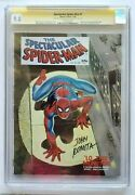 Spectacular Spider-man 1 Comic Book Cgc Ss 9.0 Signed By Stan Lee And John Romita
