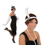 12 Flapper Headband White One Size Fits Most