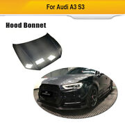 Fits Audi A3/s3 2014-2016 Carbon Fiber Engine Hood Cover Bonnet Body Kit Refit