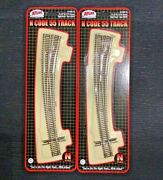 Atlas 1/160 N Scale 2 X Code 55 21.25r / 15r Right Curved Turnout 2059 F/s