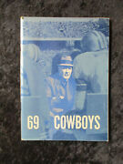 Vintage 1969 Dallas Cowboys Media Guide With Photo Insert Roger Staubach 1308