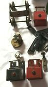 Meccano Lionel Vintage Toy Parts Train Lot Of 19 Metal Free Shipping