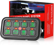 8 Gang Switch Panel On-off Switch Panel Circuit Control Relay System Car Marine
