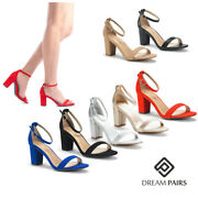 Dream Pairs Womenand039s Ankle Strap Sandals Ladies Open Toe Dress Heel Sandals Shoes
