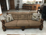 Traditional Living / Family Room Furniture 7 Pc Set- Sofa Couch Loveseat Tables